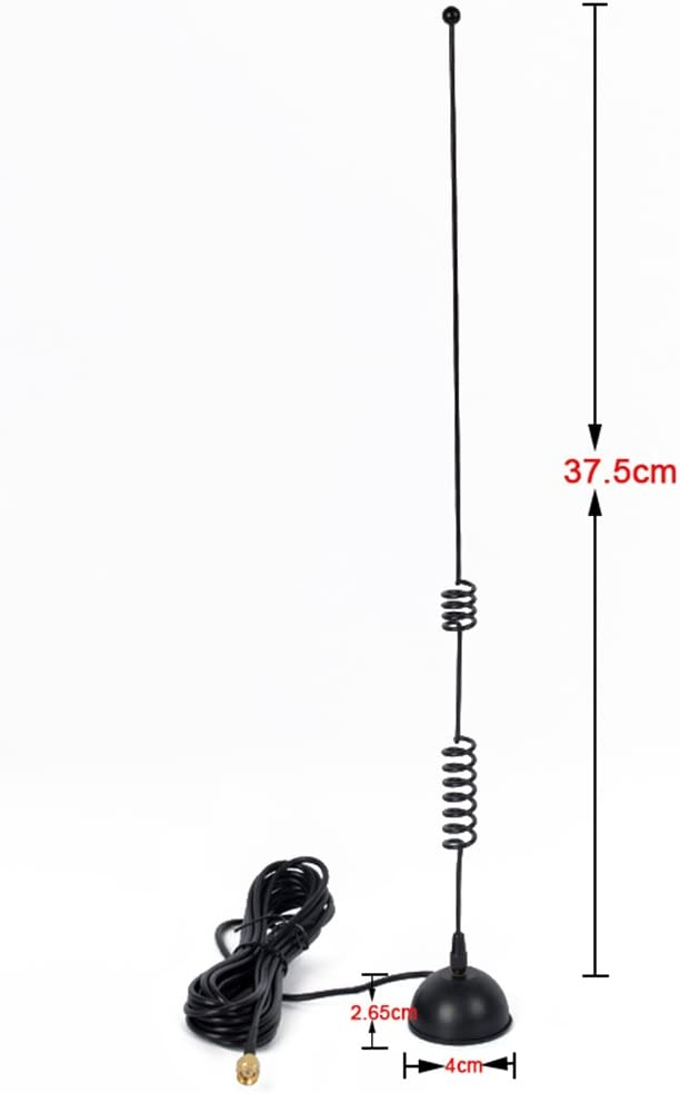 9.8Ft HYS SMA Male Antenna VHF 2 Way Radio Antenna with 50mm// 2 Magnetic Base 3M RG-174 Cable for VX-180 VX-400 VX-300 VX-800 FT-270R
