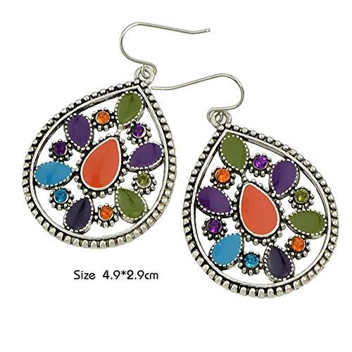 Glitz Stylish Diva Fashion Multi-Colour Drop /& Dangle Earings For Diva Girls Shining Party//Daily Wear