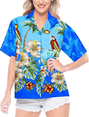 LA LEELA Likre Beach Tank Tops Women's Shirt Bright Blue 290 S - US 34 - 36D