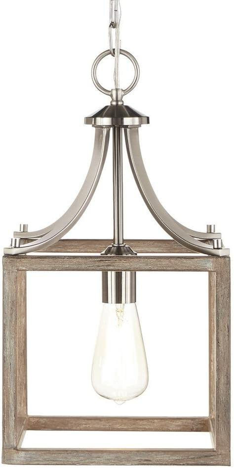 Home Decorators Collection Boswell Quarter Collection 1 Light Brushed Nickel Mini Pendant Amazon Com Home Kitchen