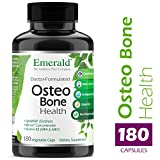Osteo Bone Health - with Meriva Phytosome + Opti MSM Vit K2 (MK4 & MK7) & MCHA Calcium - Support for Strong Bones, Joint Strength, & Immune Support - Emerald Laboratories - 180 Vegetable Capsules
