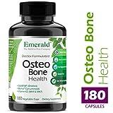 Emerald Laboratories - Osteo Bone Health - with Meriva® Phytosome + Opti MSM Vit K2 (MK4 & MK7) & MCHA Calcium - 180 Vegetable Capsules