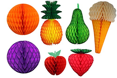 7-Piece Honeycomb Fruit, Ball, Ice Cream -