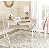 Computer Desk, Sturdy Metal Frame, Keyboard Tray, Contemporary Design, Work Surface, Wooden Top, Perfect for Living Room, College Dorm, Home Office, Practical Furniture