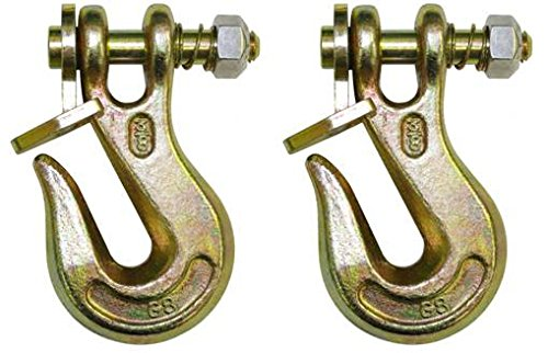 BA Products G8-200-58, Set of 2, 5/8'' Grade 80 Twist Lock Grab Hook by BA Products