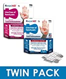 CarpalAid Carpal Tunnel Syndrome Pain Relief Hand Patch (Dual Size Bundle Pack, 20 Large, 20 Small)