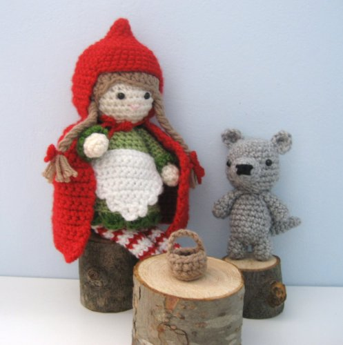 Little Red Riding Hood Patterns (Little Red Riding Hood and Wolf Amigurumi Crochet Pattern)