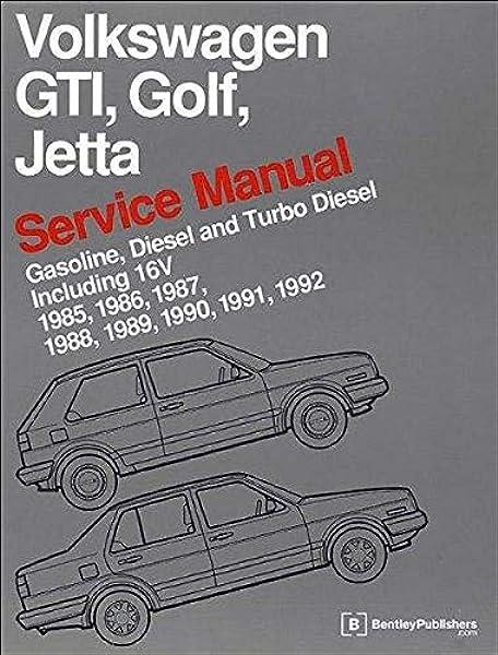[SCHEMATICS_49CH]  Volkswagen GTI, Golf, Jetta Service Manual: 1985, 1986, 1987, 1988, 1989,  1990, 1991, 1992, 1992: Bentley Publishers: 9780837616377: Amazon.com: Books | 1988 Vw Wire Diagram |  | Amazon.com