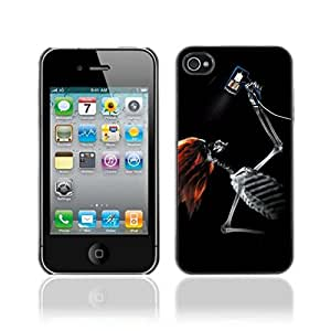 Colorful Printed Hard Protective Back Case Cover Shell Skin for Apple iPhone 4 / 4S ( Cool Skeleton X-Ray )