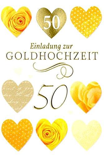 50 Bodas de Oro de invitación tarjeta de felicitación 5 mehrstück ...