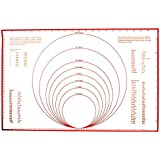 Fox Run Silicone Baking Mat with Measurements & Conversions, 23.25-inch by 15.25-inch