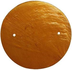 VIE Naturals Capiz Shell Discs with 2 holes - 45 Pcs (Orange), 5cm Diameter