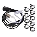 Toogoo 10PCS Accessories Air Acoustic Tube Headt Earpiece for Baofeng for Radio Waie Taie Headt for 888S UV-5R UV-82