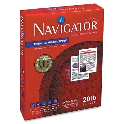 """Wholesale CASE of 5 - Soporcel Navigator Premium Multipurpose Paper-Multipurpose Paper,97 GE/110 ISO,8-1/2""""x11"""",10 RM/CT,White"""