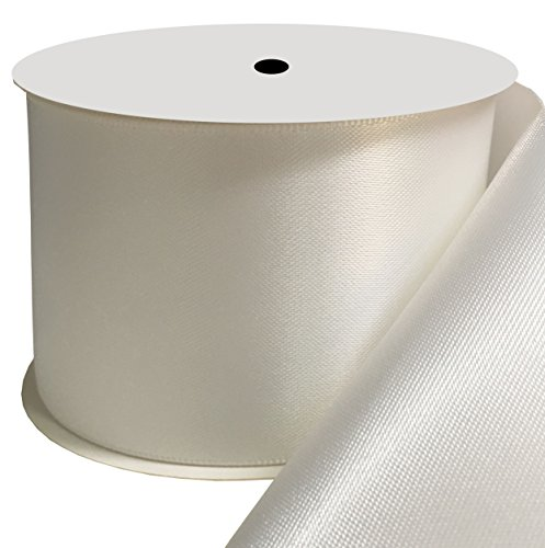 Duoqu 2 inch Wide Double Face Satin Ribbon 10 Yards White ()