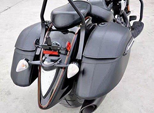 - Motorcycle Black Hard Saddle Bag Saddlebags Luggage Trunk Case Box for HD Harley Fat Boy Fatboy FLSTF Softail Deluxe FLSTN Road King FLHR PoliceClassicCustom EFI FLHPI