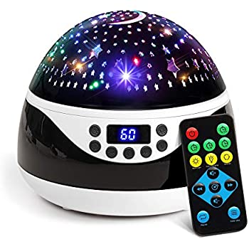 2019 Newest Baby Night Light, AnanBros Remote Control Star Projector with Timer Music Player, Rotating Star Night Light 9 Color Options, Best Night Lights ...