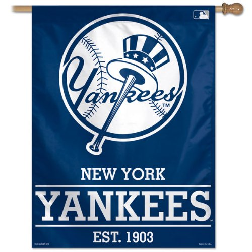 WinCraft MLB New York Yankees 87365012 Vertical Flag, Small, Black]()