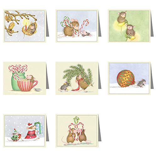 (House-Mouse Designs - Set of 8 Christmas Cards & 8 envs.)