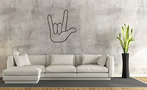 (ghvjo I Love You - American Sign Language Wall Sticker Family DIY Decor Art Stickers Home Decor Wall Art for Kids Living Room Bedroom Bathroom Office Home)