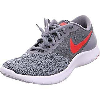 Nike Mens Flex Contact Running Shoe Cool Grey/University Red-Anthracite 14