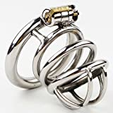 Caroline Giron Stainless Steel Male Chastity Belt with New Style Lock Men Penis Restraint Locking Cage