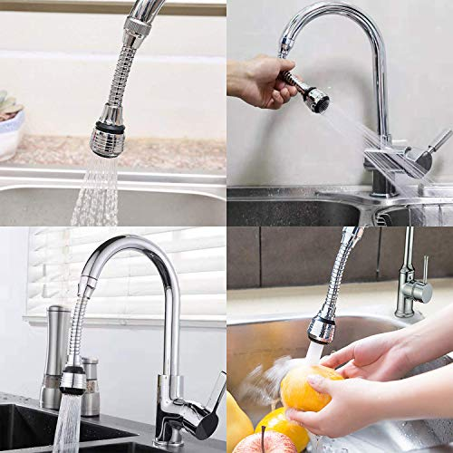 360 Rotate Swivel Faucet Sprayer 2 Pieces Kitchen Faucet Extension Tubes Water Saving Faucet Aerator Nozzle Filter Adapter For Home Bathroom Kitchen Long Style Pricepulse