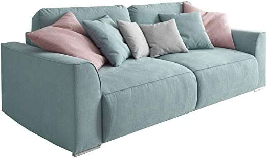 Invicta Interior Modernes Design Big Sofa Weekend Aquamarin Schlaffunktion Mit Bettkasten Und Kissen Amazon De Kuche Haushalt