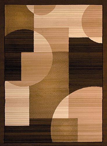 United Weavers of America Dallas Zoom Rug, 8 x 10', Brown (Best Patios 10 Dallas In)