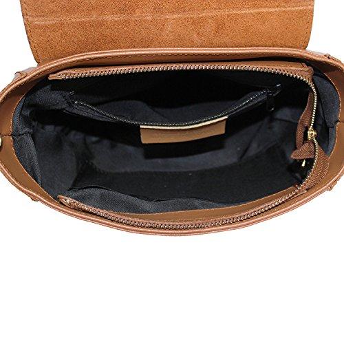 Borsa a Tracolla Donna Gin Borsa in Vera Pelle Liscia Made in Italy Maison Bag 20x23x5 cm Nero