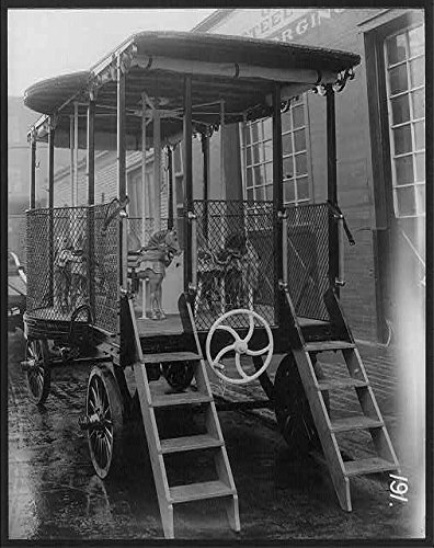 Photo: Merry-go-round in wagon manufactured by George B. Marx; Brooklyn,N.Y.,1920 1