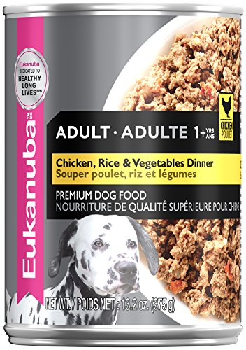 Eukanuba Wet Food 10154711 Adult Chicken with Rice & Vegetables Dinner Canned Dog Food (Case of 12), 13.2 oz