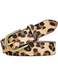 Leopard Print PU leather Belt Women's Waist Belt Artificial Horse hair Belts for Women