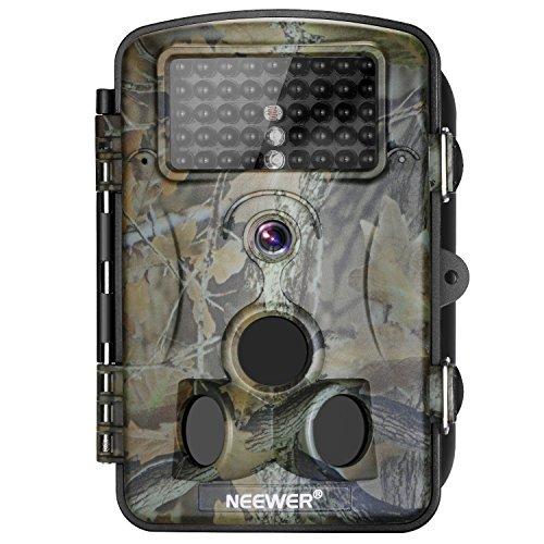 Neewer 2-Paquete Cámara de Caza Visión Nocturna Infrarrojos, 1080P 12MP HD Infrarrojos Pantalla LCD, 120-Grado Gran...