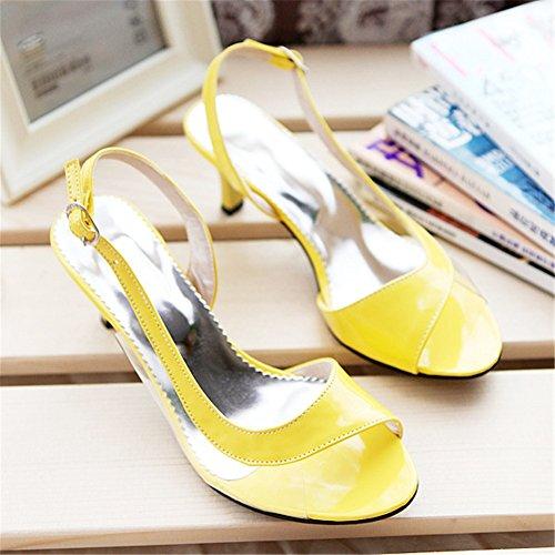 de Casual Blanco G Azul Tacones Summer Transparentes SHINIK 38 Amarillo Rojo goma las tamaño Negro mujeres Sandalias Club Vestido de Shoes Color Comfort PUURw5qc7