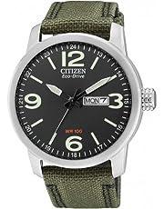 Citizen Herren Analog Quarz Uhr mit Nylon Armband BM8470-11EE