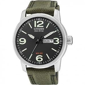 Citizen BM8470-11EE - Reloj analógico de cuarzo para hombre, correa de nailon color verde