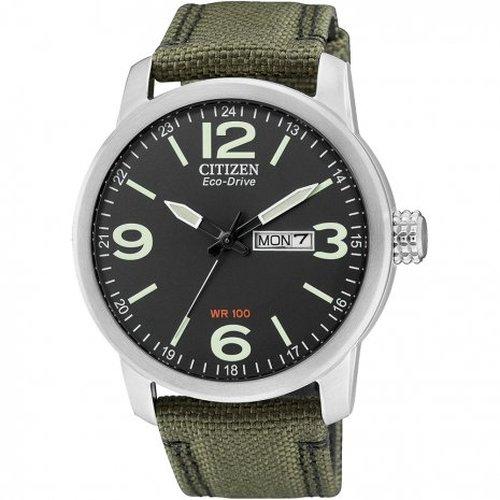 Citizen BM8470-11EE - Reloj analógico de cuarzo para hombre, correa de nailon color verde: Amazon.es: Relojes