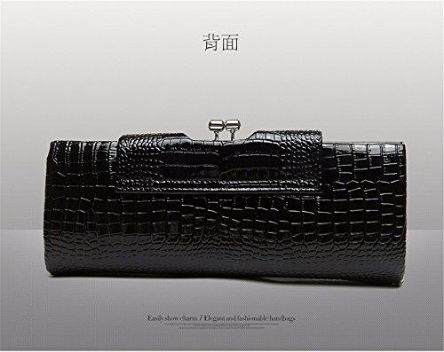 Plateado Bolso Mujer para Hombro negro Cuero Moda CCZUIML de Bag de de 5vcgZSqg