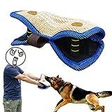 PET ARTIST Jute / Linen Bite Wedge Bite Pillow 2 Handle with 1 Loop Tug Toy 14''(36cm) 8''(20cm)
