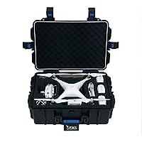 HUL Military Spec Waterproof Hard Shell Case for DJI Phantom 3 Standard / SE / Professional / Advanced / 4K / Phantom 4 / Phantom 4 Pro Drones (Blue)