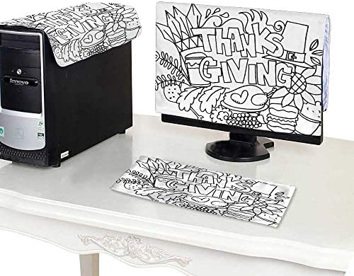 Amazon com: Monitor + Keyboard + CPUThanksgiving Doodle Art