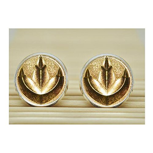 [Mighty Morphin Power Rangers Green Ranger Earrings jewelry glass Cabochon Earrings (silver)] (Pop Culture Halloween Costume Ideas)