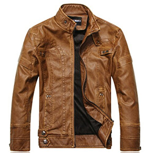 bf287265c3a32 Musamk Dashing Motorcycle Leather Jackets Men Autumn Winter Leather  Clothing Men Leather Jackets Male Business casual Coats Brand New clothing  Picture ...