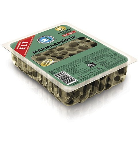 Turco negro aceitunas–marmarabirlik Extra Siyah zeytin 500G/17.6oz, 321–350/kg, Paquete de 1