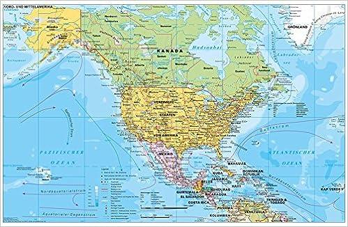Nord Und Mittelamerika Politisch 1 90 000 000 Wandkarte