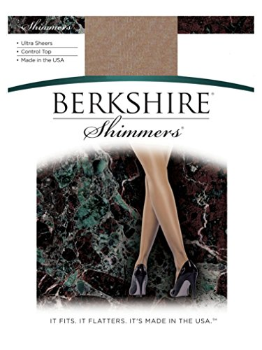 Berkshire Women's Shimmers Ultra Sheer Control Top Pantyhose 4429, Gold. Size 1