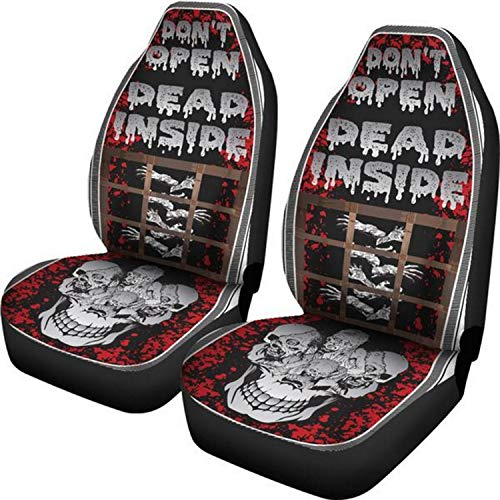 Muggalicious Don't Open Dead Inside Zombie Walking Dead Universal Seat Cover Set