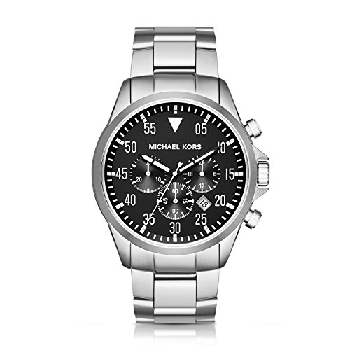 Michael Kors Men's Gage Silver-Tone Watch - Discount World Codes Watches Of