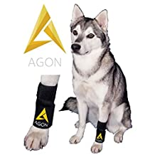 Agon Dog Canine Brace Paw Compression Wrap with 2 Straps, Small/Medium